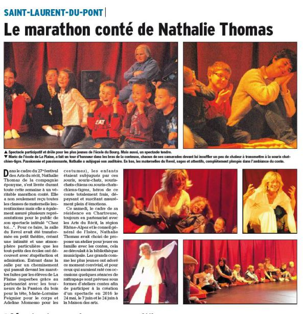 Revue de presse Spectacle Chez Toi, Dauphiné Libéré - Mai 2014