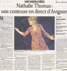 Article-DL-Juillet-2012-Nathalie-Thomas,-une-conteuse-en-direct-d'Avignon-A-quoi-rêvent-les-fées